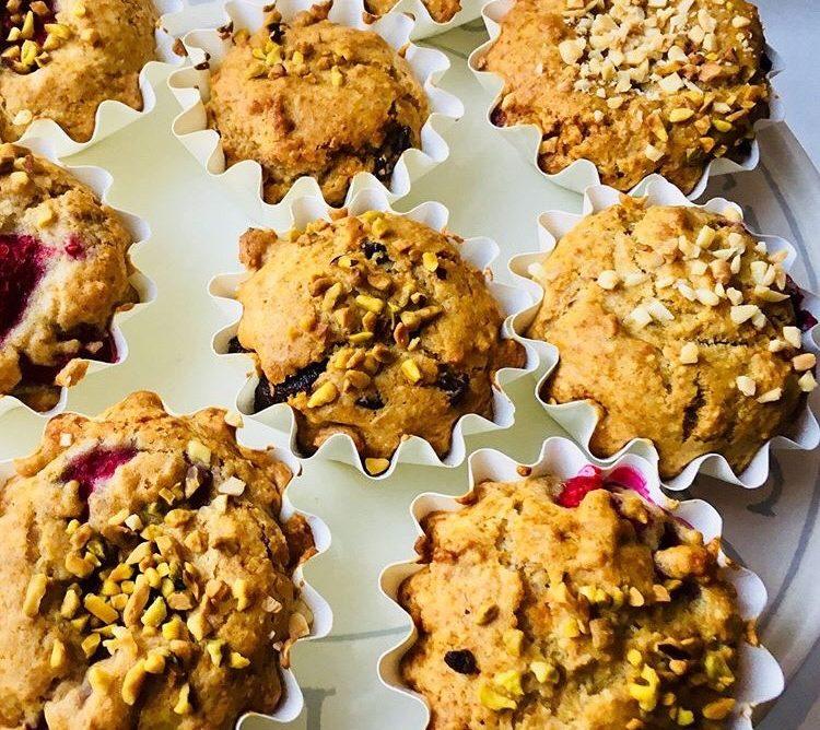 Muffin ai lamponi senza burro e senza zucchero