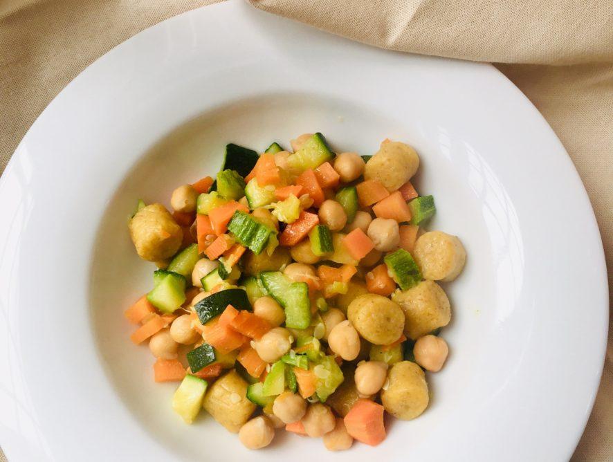Gnocchi di ceci con verdure