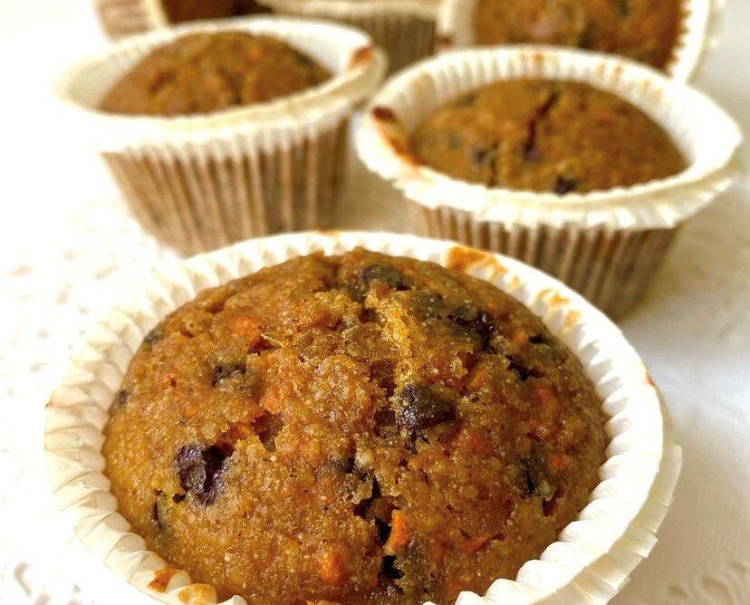 Muffin alle carote senza glutine e senza lattosio